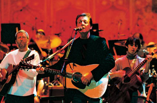 Eric Clapton, Paul McCartney and Dhani Harrison, The Royal Albert Hall, 2002