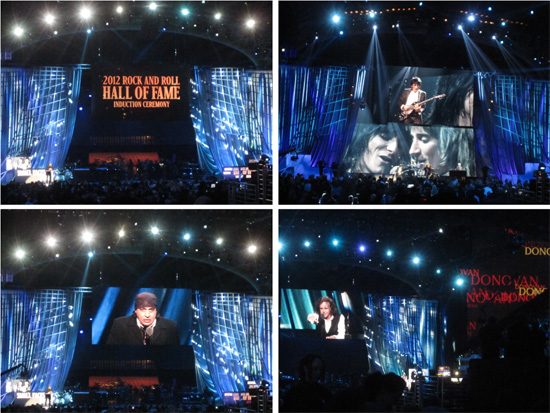 The Faces are inducted into the Rock and Roll Hall of Fame, 14 April 2012