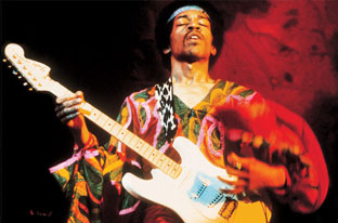 Jimi Hendrix, live at the Isle of Wight Festival, 1970