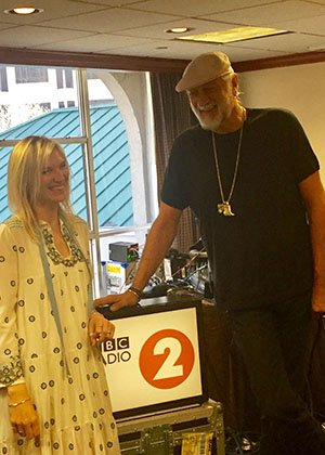 Mick Fleetwood will be speaking tonight between 9 and 10pm to Jo Whiley at BBC Radio 2.
