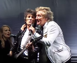 Ronnie Wood, Rod Stewart and Kenney Jones performed together in public for the first time in over 20 years on Saturday 5th September.