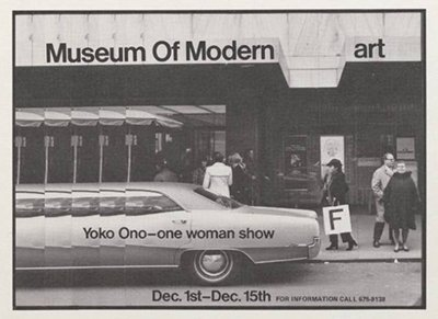 The Museum of Modern Art will be hosting its first solo show of Yoko Ono's work, running from May 17th to September 7th 2015.