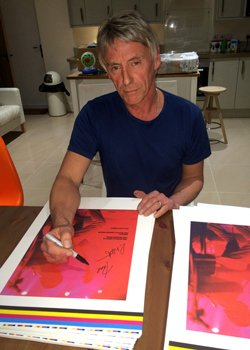 Paul Weller and Lawrence Watson are signing each copy of INTO TOMORROW.