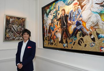 Ronnie Wood is ready for an exhibition beginning today, July 14th 2015, in New York
