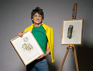 Ronnie Wood has created a series of new drawings inspired by the content of his recently discovered 1965 diary.