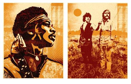 Shepard Fairey's Woodstock