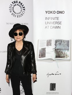 Yoko Ono previewed her new book and prints series at New York's Paley Centre on Tuesday November 11th.
