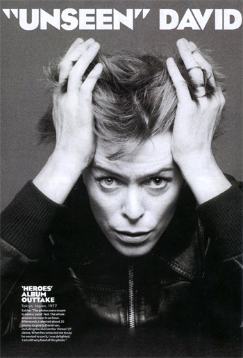 David Bowie from SPEED OF LIFE in MOJO, June 2012