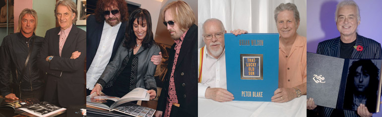 Paul Weller and Paul Smith; Jeff Lynne, Olivia Harrison and Tom Petty; Peter Blake and Brian Wilson; Jimmy Page