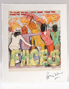 Ronnie Wood's Artist Signed Print