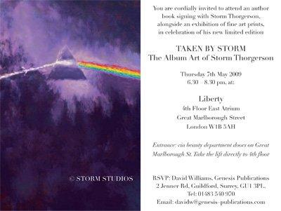 Storm Thorgerson At Liberty, London