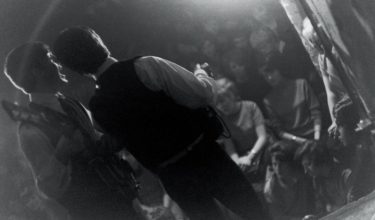 The Beatles onstage at the Cavern Club, 1963