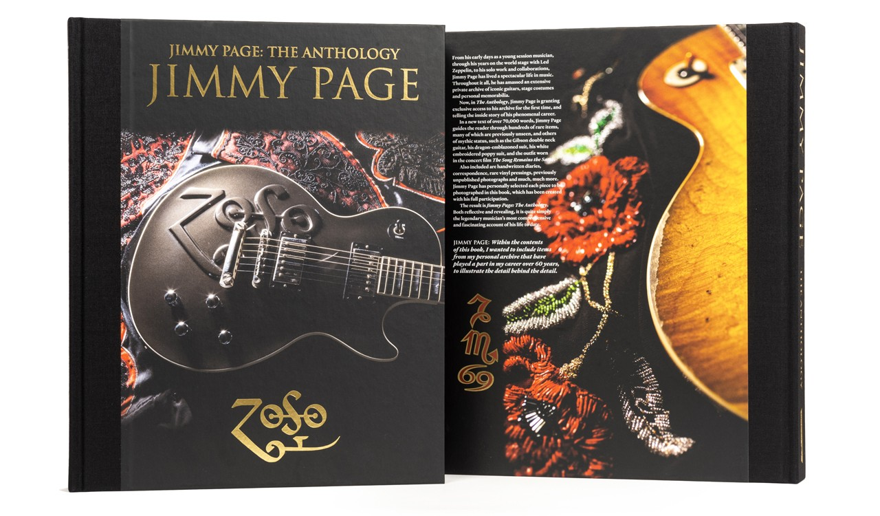 Jimmy Page: The Anthology, front and back bookcovers