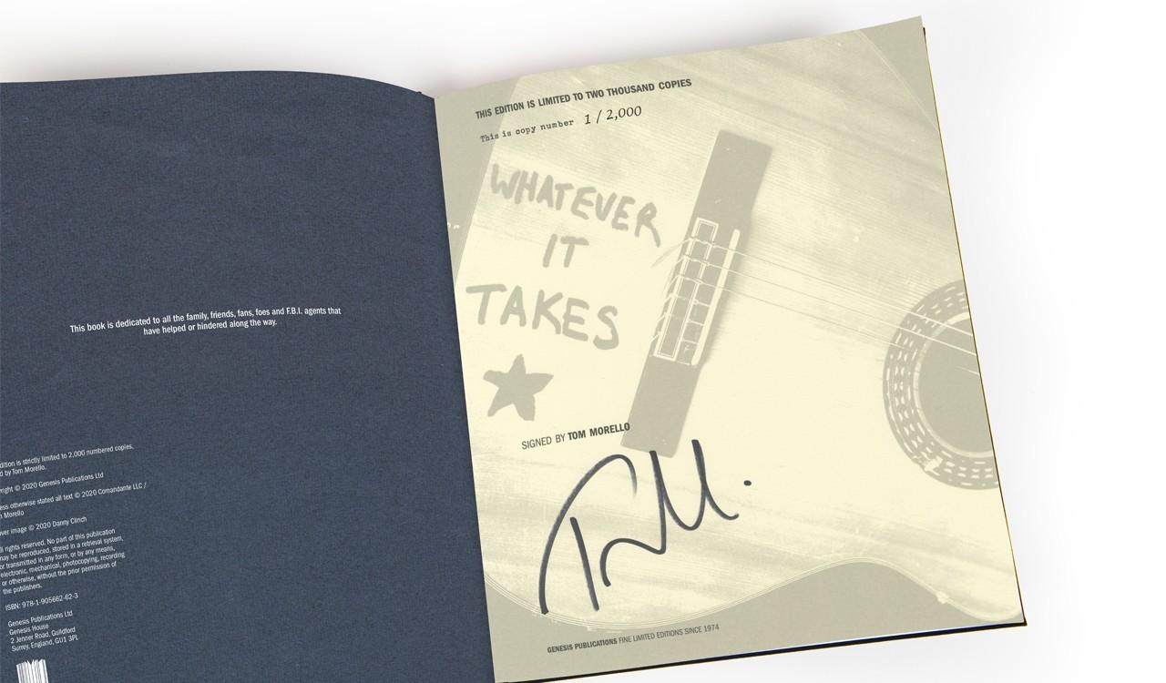 Tom Morello Signature Page