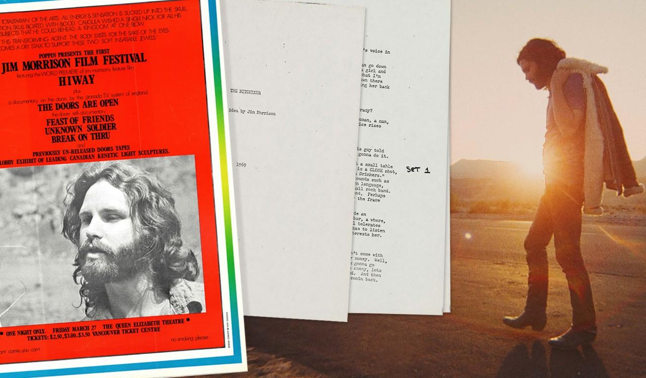 Jim Morrison's Hitchhiker Movie Script and Film Festival Poster