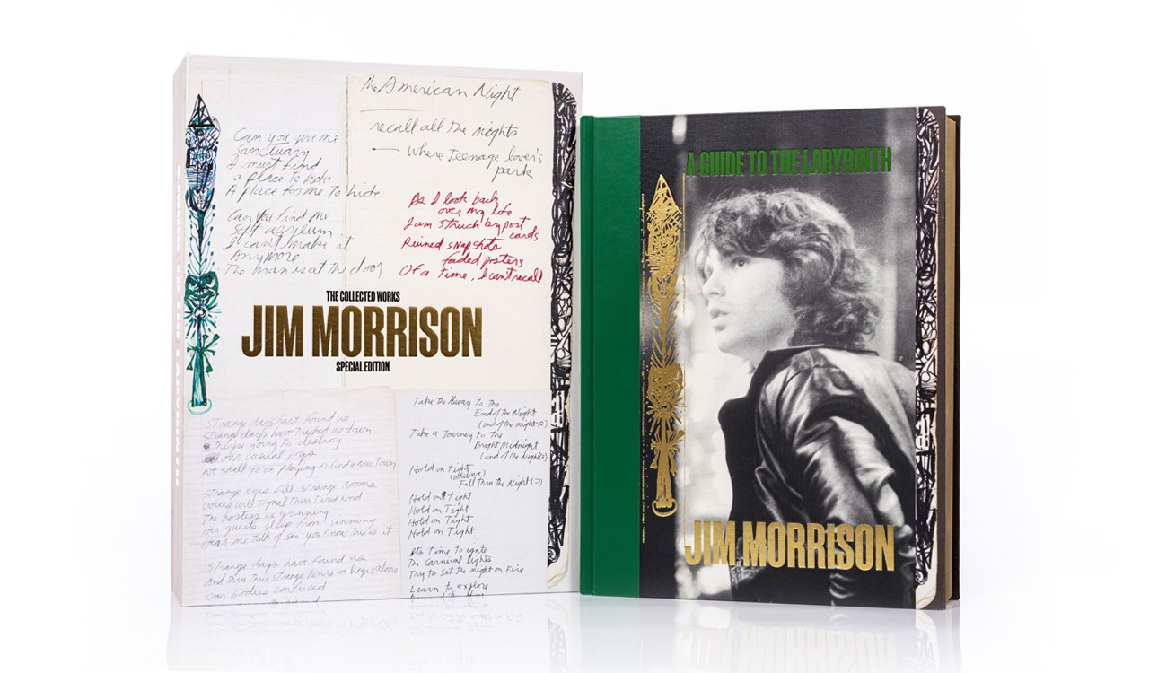 Jim Morrison: A Guide to the Labyrinth, main book and box
