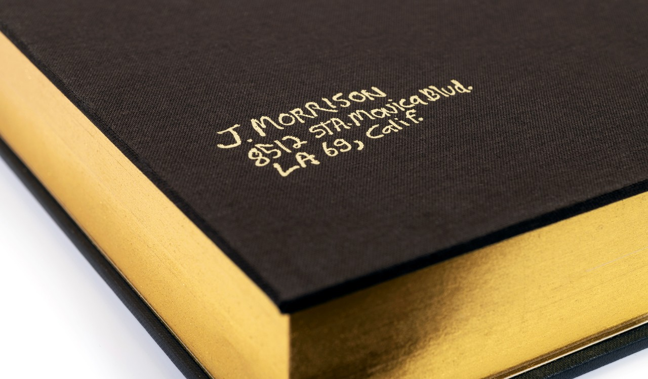 Jim Morrison, A Guide to the Labyrinth, gold page edging and tooling