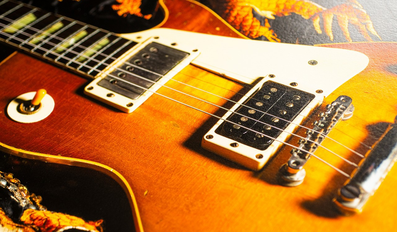 Jimmy Page's 'Number One' Les Paul and 'Song Remains the Same' Suit, Detail