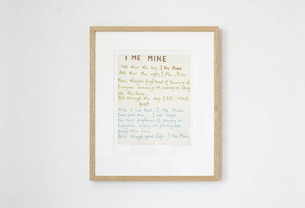 I Me Mine Lyric Print