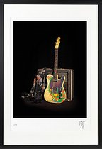 Jimmy Page's 'Dragon' Telecaster, Supro Coronado amplifier, and a silk shawl worn in the Yardbirds